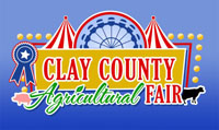Image of Clay County Agricultural Fair logo.